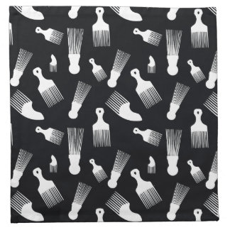 Black and white hair fashion cloth napkin