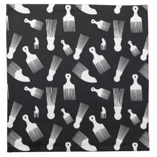 Black and white hair fashion napkins
