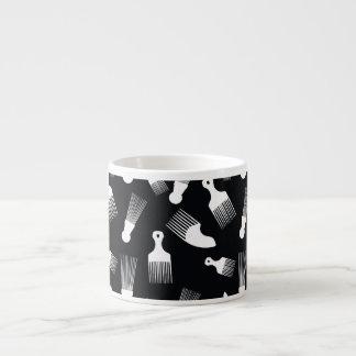 Black and white hair fashion espresso mug