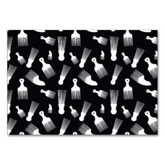Black and white hair fashion table card