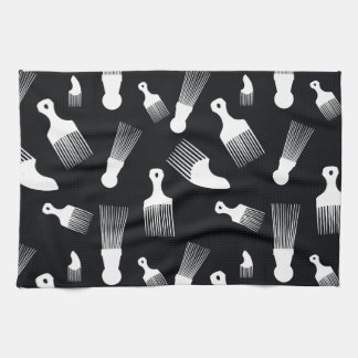 Black and white hair fashion kitchen towels