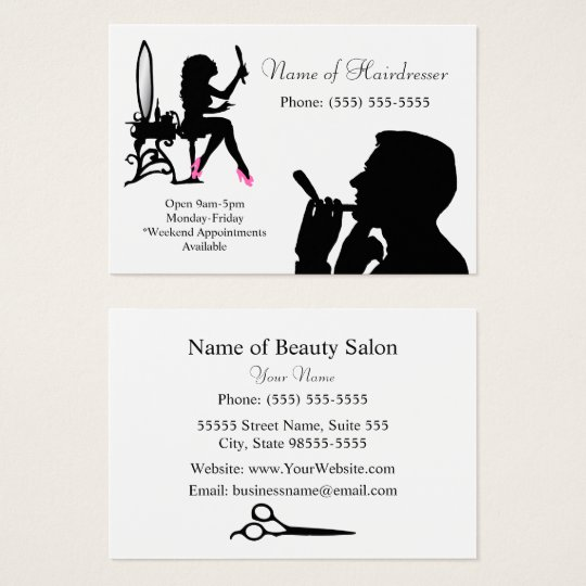 Black and White Hairdresser For Men and Women