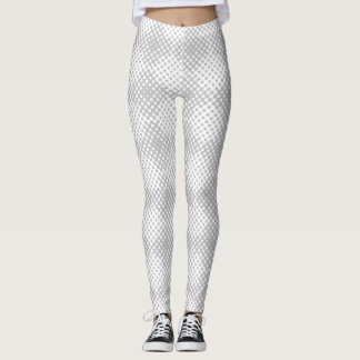 Black and White HalfTone Circle Pattern Leggings