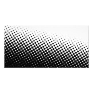 Black and White Halftone Photo Greeting Card