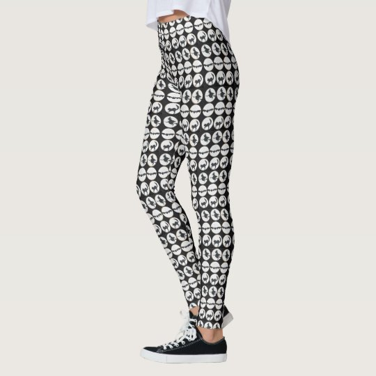 Black and White Halloween Design Leggings