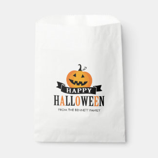 Black and White Halloween Favor Bag Favour Bags