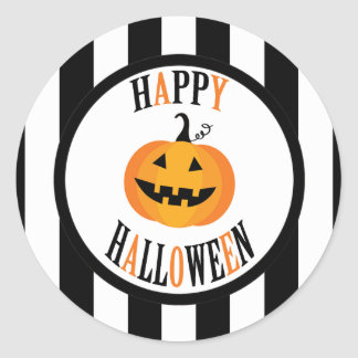 Black and White Halloween Sticker