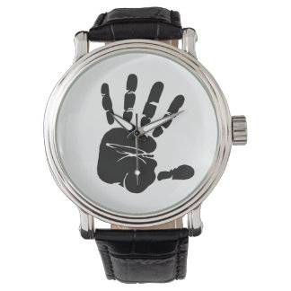 Black and White Hand Print Wristwatches