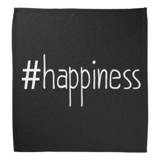 Black And White #happiness Bandannas