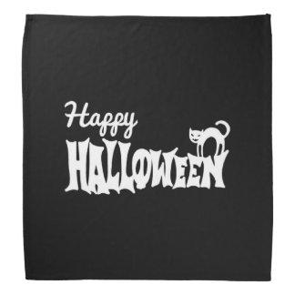 Black And White Happy Halloween Bandana