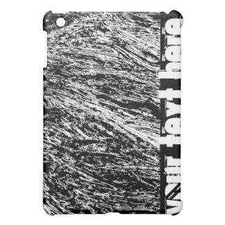 Black and white hard rock scratchy design iPad mini case