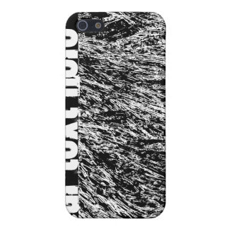 Black and white hard rock scratchy design iPhone 5 cases