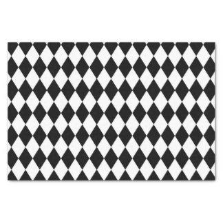 Black and White Harlequin Pattern Tissue Paper