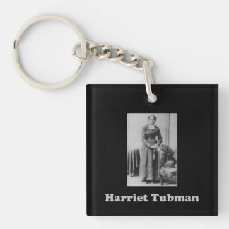 Black and White Harriet Tubman Picture Key Ring