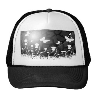 black and white Hat