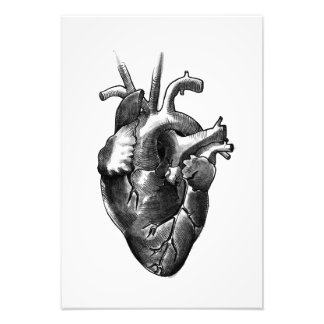 Black and White Heart Art Print (small)