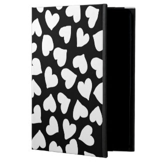 Black and White Heart Pattern iPad Air Case