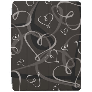 Black and white heart pattern iPad cover