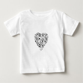 Black and White Heart. Patterned Heart Design. Baby T-Shirt
