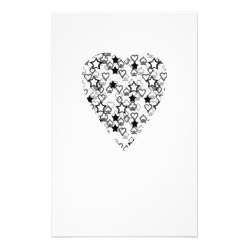 Black and White Heart. Patterned Heart Design. Custom Flyer