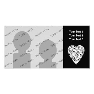 Black and White Heart. Patterned Heart Design. Photo Greeting Card