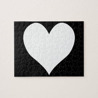 Black and White Heart Puzzles