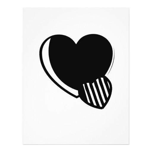 Black and White Hearts Custom Flyer