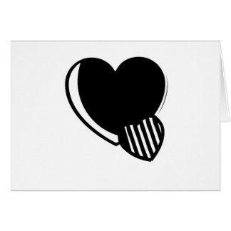 Black and White Hearts Greeting Card