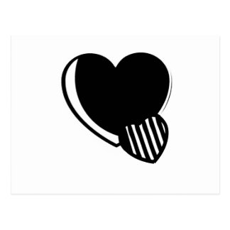Black and White Hearts Postcard