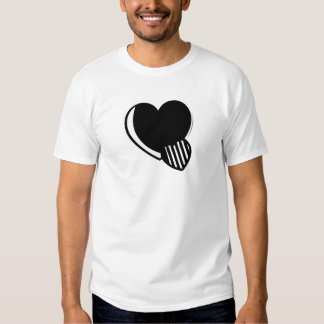 Black and White Hearts Tshirt