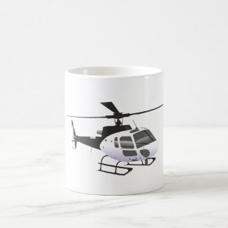 Black and white helicopter mug