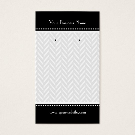 Black and White Herringbone Earring Cards