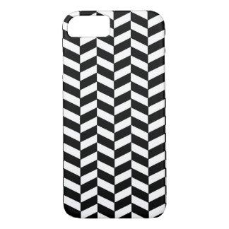 Black and White Herringbone iPhone 7 Case