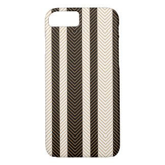 Black and White Herringbone Pattern iPhone 7 Case