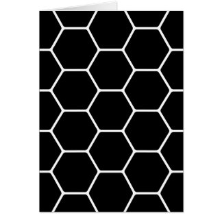 Black and White Hexagon Design. Greeting Card