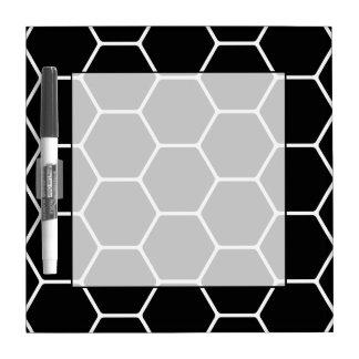 Black and White Hexagon Design. Dry Erase Board