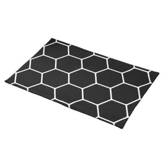 Black and White Hexagon Design. Placemat