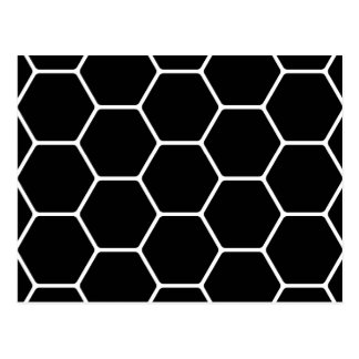 Black and White Hexagon Design. Post Cards