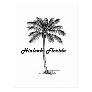 Black and White Hialeah & Palm design Postcard