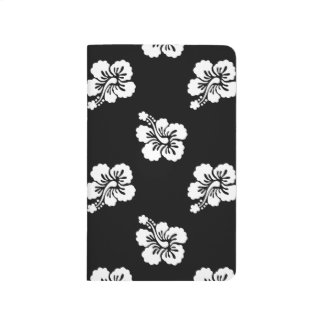 Black and White Hibiscus Floral Pattern Journal