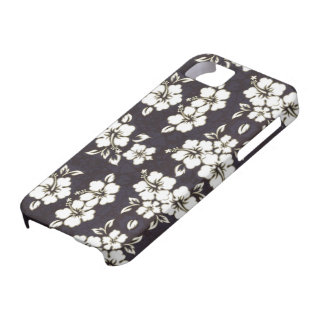 Black and White Hibiscus  iPhone 5 Barely Case