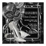 Black and White High Heels Birthday Party Custom Invitation