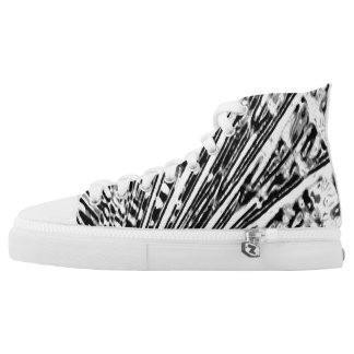 Black and white high tops
