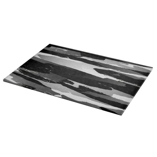 Black And White Horizontal Abstraction Cutting Board