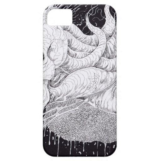Black And White Horror Skull Art iPhone 5/5S Case