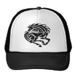 Black and white horse hat