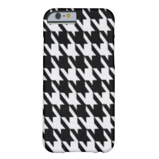 Black and White Houndstooth Design Barely There iPhone 6 Case