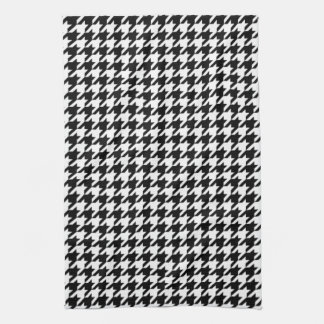 Black and White Houndstooth Kitchen Towels