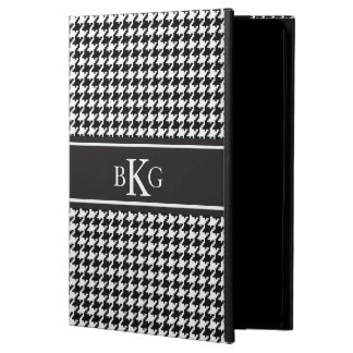Black and White Houndstooth Pattern iPad Air Case