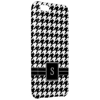 Black and White Houndstooth Pattern Monogram iPhone 5C Cases